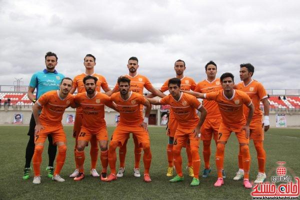 تیم فوتبال  صنعت مس رفسنجان در مسابقه دربی ورزشگاه شهدای صنعت مس رفسنجان