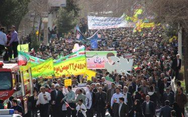 آغاز راهپیمایی ۲۲ بهمن در رفسنجان / مردم رفسنجان بار دیگر ندای رهبری را لبیک گفتند