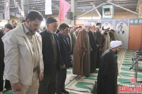 حضور اتش نشانان در نماز جمعه مصلی بزرگ امام خامنه ای رفسنجان