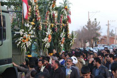 همراه با کاروان شهدای گمنام و شهید غواص حسن عبداللهی در رفسنجان / تصاویر