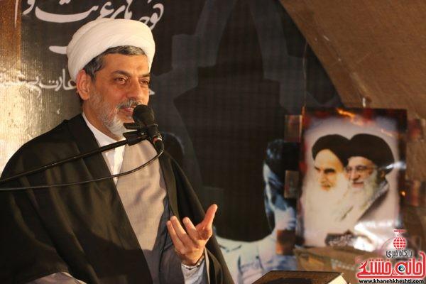 سخنرانی حجت الاسلام ناصر رفیعی در بیستمین یادواره ۳۳ شهید والامقام مسجدالنبی(ص) محله قطب آباد رفسنجان