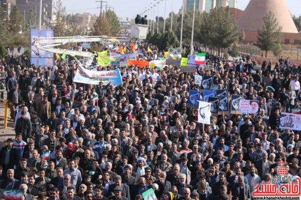 راهپیمایی یوم الله 22 بهمن در رفسنجان با حضور پرشکوه مردم بصیر ، ولایی و مسئولین شهرستان رفسنجان
