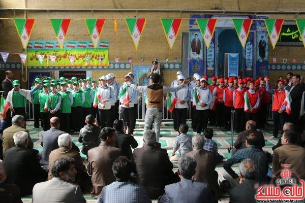 حضور گروه سرود دبیرستان فرهنگ در مصلی بزرگ امام خامنه ای رفسنجان در مراسم یومالله 22 بهمن