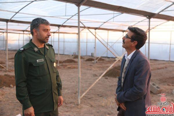 بازدید مدیر بسیج سازندگی ناحیه مقاومت بسیج رفسنجان از طرح های اجرا شده و در حال اجرا در روستایی ناصریه رفسنجان