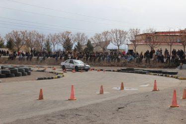مسابقات اتومبیلرانی جام شهدای آتش نشان در رفسنجان برگزار شد / تصاویر