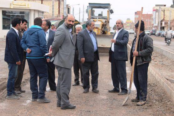 بازدید شهردار از چهار پروژه عمرانی سطح شهر رفسنجان + عکس