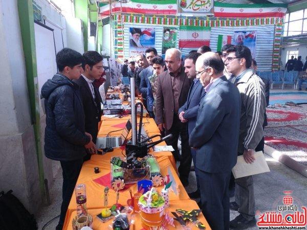 افتتاح اولین نمایشگاه رباتیک آموزشگاه های شهرستان رفسنجان با حضور دکتر خلیلی ریاست دانشگاه پیام نور ، مسولین آموزش و پرورش و فنی حرفه ای