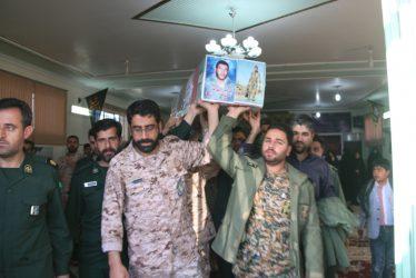 میزبانی پاسداران ناحیه مقاومت بسیج رفسنجان از پیکر مطهر شهید غواص حسن عبداللهی / تصاویر