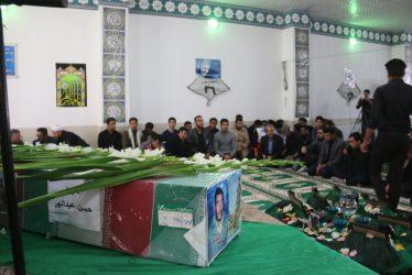مراسم هفت شهید حسن عبداللهی در مسجد الزهرا برگزار می شود