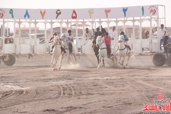 مسابقات اسب دوانی کورس زمستانه 95 که در میدان کورس سید الشهدای قاسم آباد حاجی رفسنجان