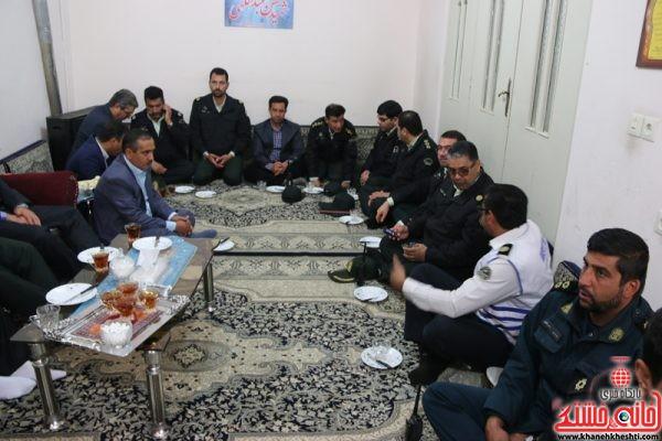 دیدار مسئولین شهرستان رفسنجان با حجت الاسلام رمضانی پور امام جمعه و خانواده شهید عبدالهی