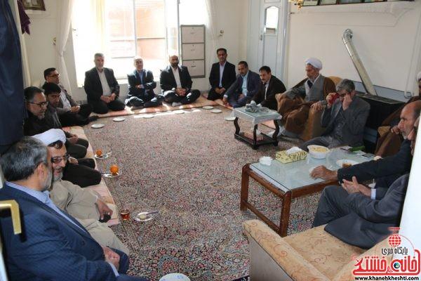 دیدار جمعی از مسئولین با خانواده شهید پور محمدی