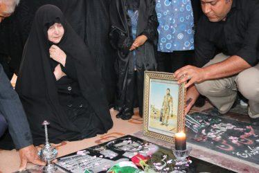 مراسم گرامیداشت اربعین بازگشت شهید غواص در رفسنجان برگزار شد / تصاویر