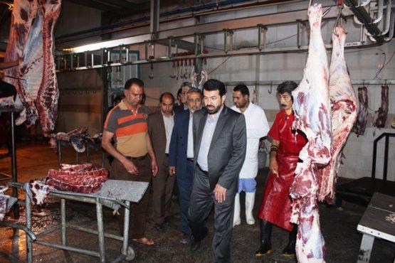 بازدید فرماندار و شهردار رفسنجان از کشتارگاه