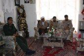 دیدار فرمانده توپخانه رفسنجان با خانواده شهید مدافع حرم حامد بافنده / عکس