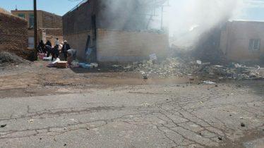 انفجار در محمد آباد میثم رفسنجان یک کشته برجای گذاشت / عکس