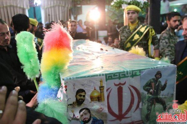 استقبال از شهید مدافع حرم حامد بافنده در میدان انقلاب رفسنجان
