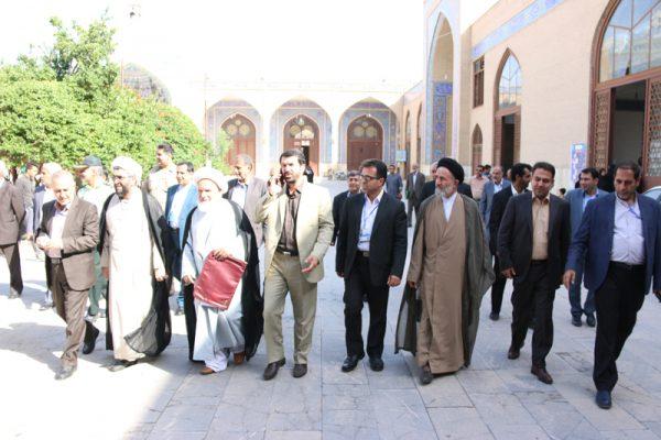 حضور مسئولین رفسنجان پای صندوق های رای
