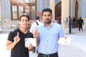 حضور باشکوه مردم و مسئولین در ساعات اولیه رای گیری در رفسنجان / شعبه مسجد جامع
