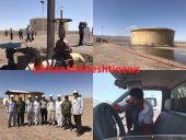 مانور سرریز و آتش سوزی مخزن انتقال نفت رفسنجان + عکس