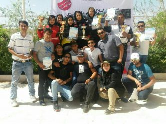 قهرمانی تیم اتومبیلرانی رفسنجان در مسابقات اسلالوم استان کرمان