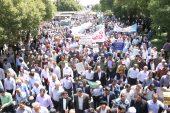 فریاد رسای مردم رفسنجان در حمایت از آرمان فلسطین / گزارش تصویری(۱)