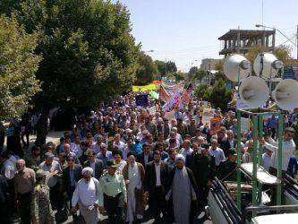 آغاز راهپیمایی روز جهانی قدس در رفسنجان + عکس