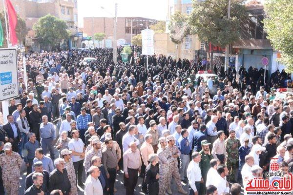 مراسم تشییع و تدفین شهید محمد علی محمد صادقی در رفسنجان
