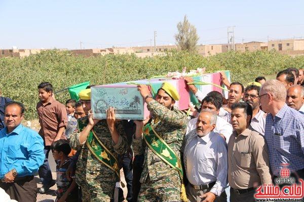 لحظات ناب استقبال از شهید محمد علی محمد صادقی در رفسنجان روستای جعفر اباد نوق دهستان رضوان