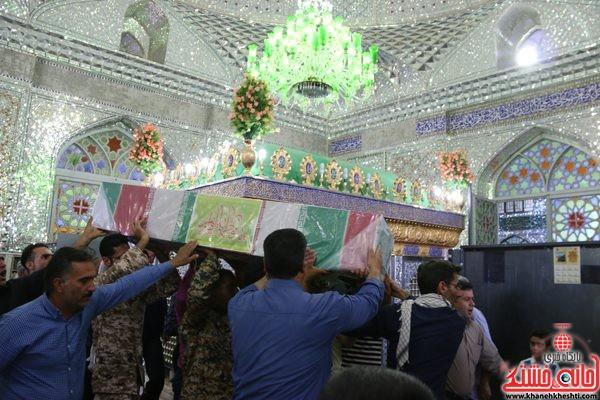طواف شهید محمد علی محمد صادقی در امامزاده سید جلال ادین اشرف نوق