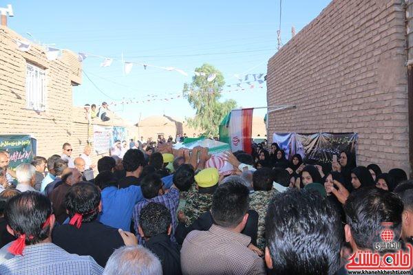 لحظات ناب استقبال از شهید محمد علی محمد صادقی در رفسنجان روستای روستای دهن اباد زادگاه و منزل شهید