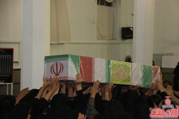 لحظات ناب استقبال و وداع با شهید محمد علی محمد صادقی در مسجد امام خمینی (ره) روستای جعفر آباد رفسنجان