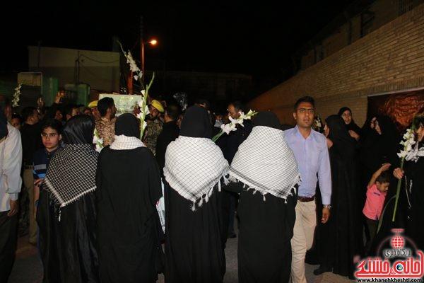 لحظات ناب استقبال و وداع با شهید محمد علی محمد صادقی در منزل حجت الاسلام حسینی هم محله شهید منطقه خیابان جانبازان رفسنجان