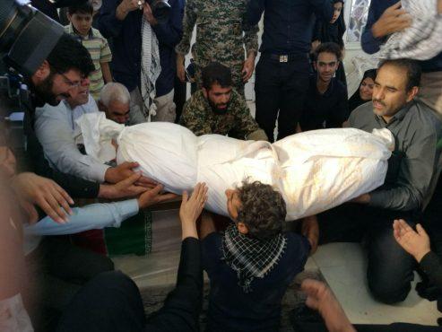 پیکر شهید محمد علی محمد صادقی در رفسنجان تشییع و تدفین شد/ تصاویر