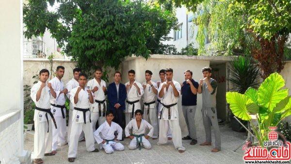 آزادکاران کاراته رفسنجان برسکوهای تورنمنت بین المللی