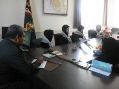 دیدار دانش آموزان برگزیده لیگ علمی پایا با فرمانده ناحیه رفسنجان