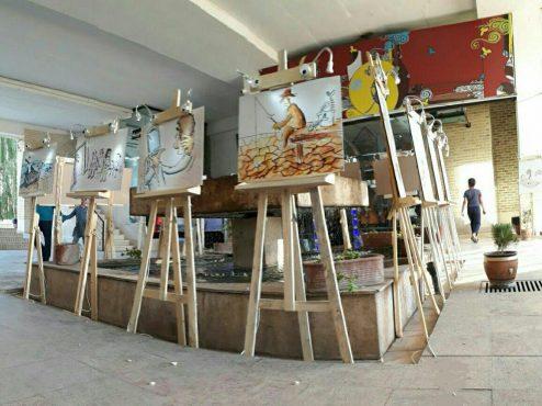 نمایشگاه آثار کاریکاتوریست کرمانی در رفسنجان