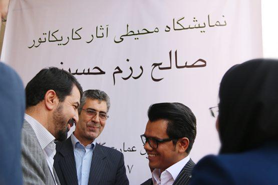 نمایشگاه اثار صالح رزم حسینی تا فردا در رفسنجان پابرجاست / عکس