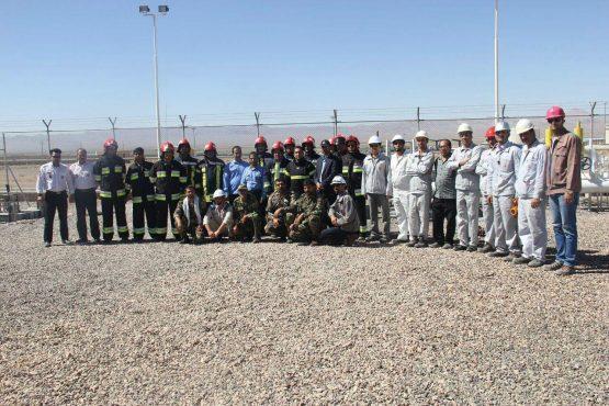 برگزاری مانور اطفاء حریق در تاسیسات نفت کرمان