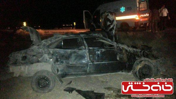 ۱۲ کشته و زخمی در واژگونی خودرو اتباع افغان در حوالی رفسنجان