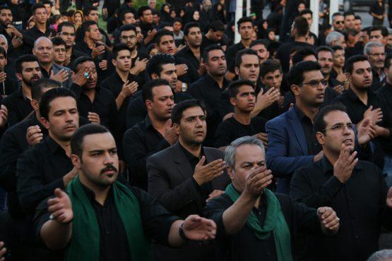 تصاویر زیبا از تجمع هیئت های عزاداری در میدان ابراهیم رفسنجان