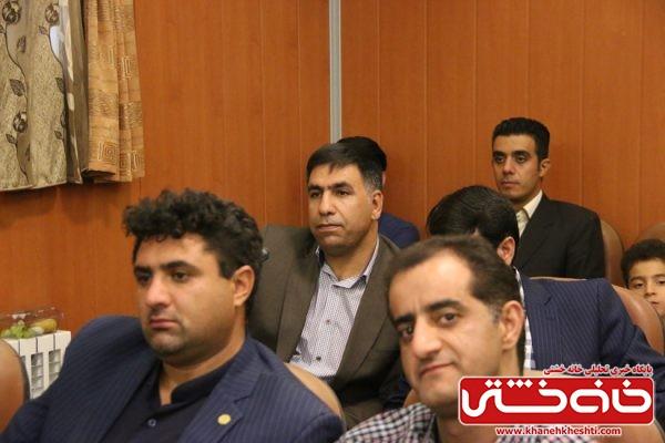 فتحیان عضو شورای شهر رفسنجان در مراسم تودیع و معارفه فرماندار رفسنجان در محل فرمانداری رفسنجان