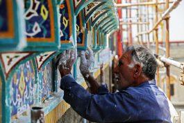سهم عشق مردم رفسنجان از طرح ترفیع گنبد امام حسین(ع) و صحن حضرت زهرا(س) + عکس