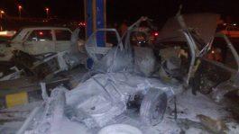 انفجار در پمپ گاز کشکوئیه یک کشته برجای گذاشت + عکس