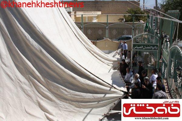 مراسم برپایی خیمه اباعبدالله الحسین(ع) در بیت العباس رفسنجان