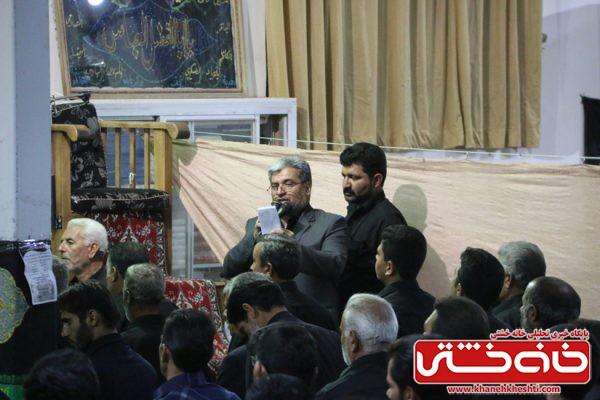 عزاداری شب عاشورا در مسجد جامع روستای حمید آباد رفسنجان