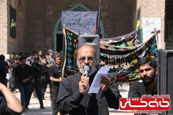 مراسم عزاداری روز عاشورا در امامزاده رضا (ع) سید غریب رفسنجان با حضور هیئت های مذهبی شهرستان