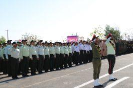 صبحگاه مشترک نیروهای مسلح رفسنجان به مناسبت هفته ناجا / گزارش تصویری