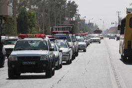 رژه خودرویی نیروی انتظامی رفسنجان در آخرین روز از هفته ناجا / گزارش تصویری