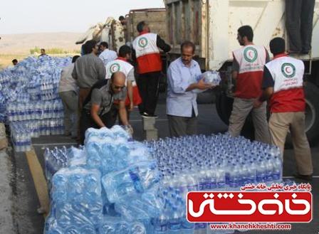 ارسال اولین محموله کمک های مردم رفسنجان به زلزله زدگان کرمانشاه